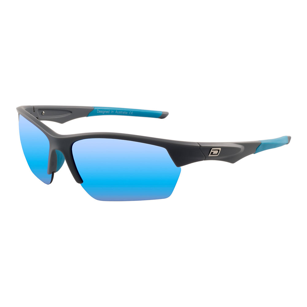 Image of Lunettes de soleil Dirty Dog Track polarisées - Crystal Black-Silver Mirror Lens