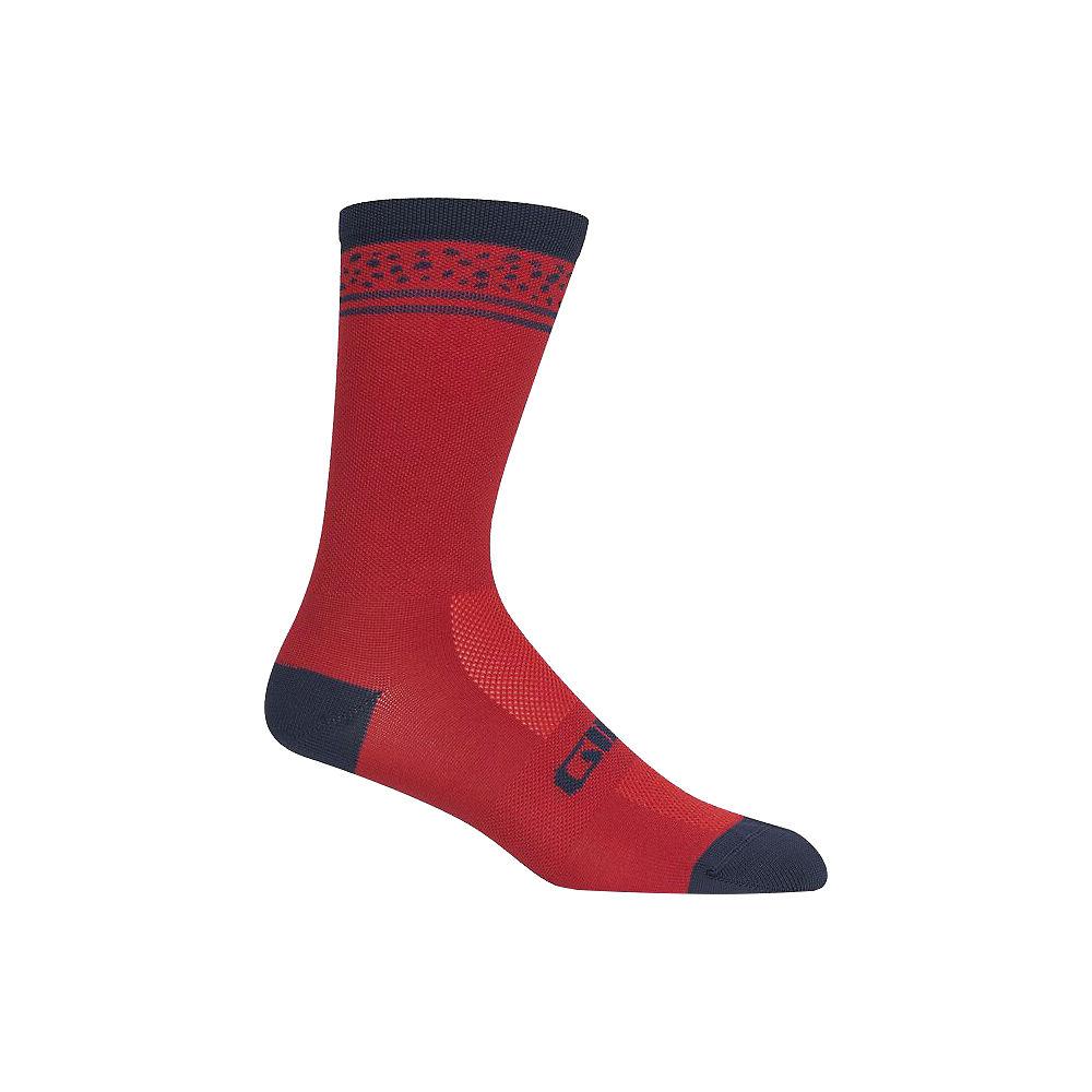 Giro Comp Racer High Rise Socks - Dark Red Lines, Dark Red Lines