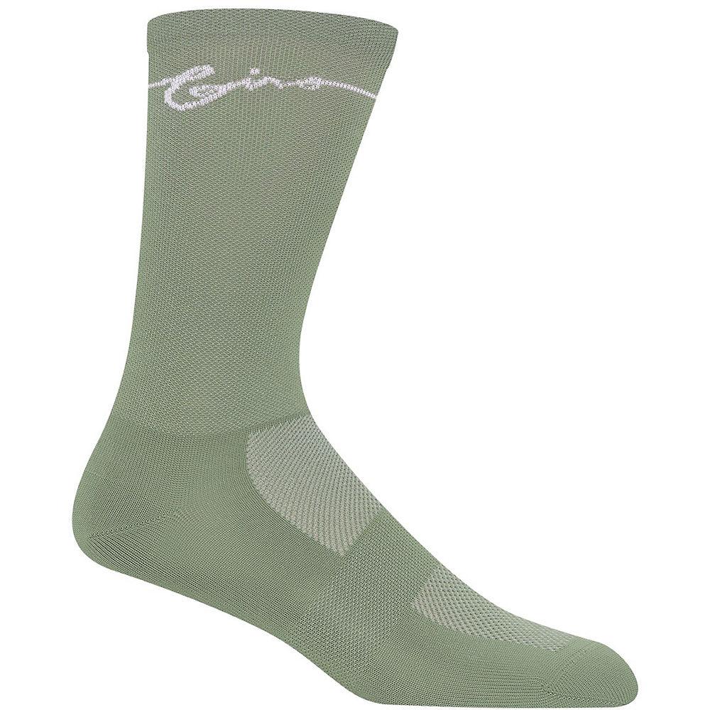 Giro Comp Racer High Rise Socks - Grey-Green - L, Grey-Green
