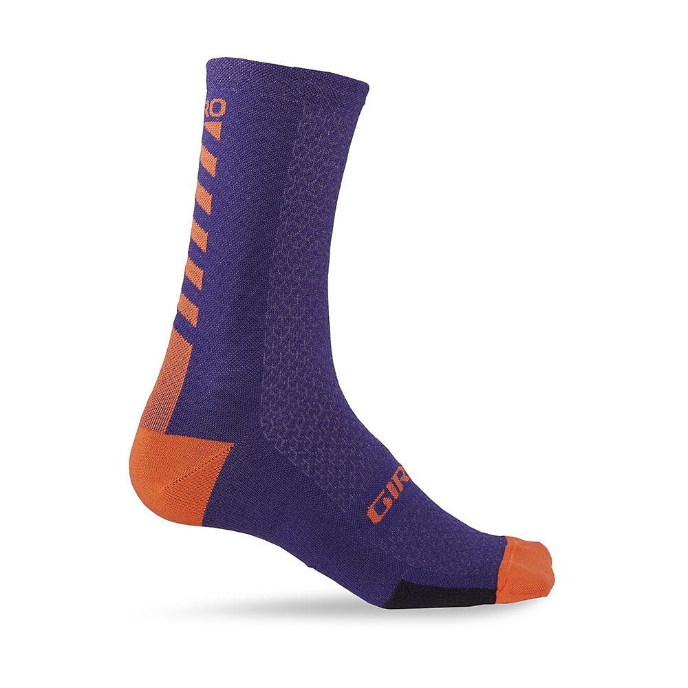 Giro HRc+ Merino Wool Socks  - Ultraviolet-Vermilli, Ultraviolet-Vermilli