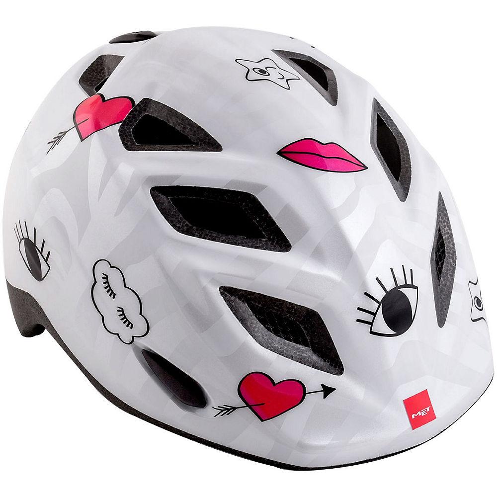 Met Genio Kids Helmet 2018 - White Glossy-icons - One Size  White Glossy-icons