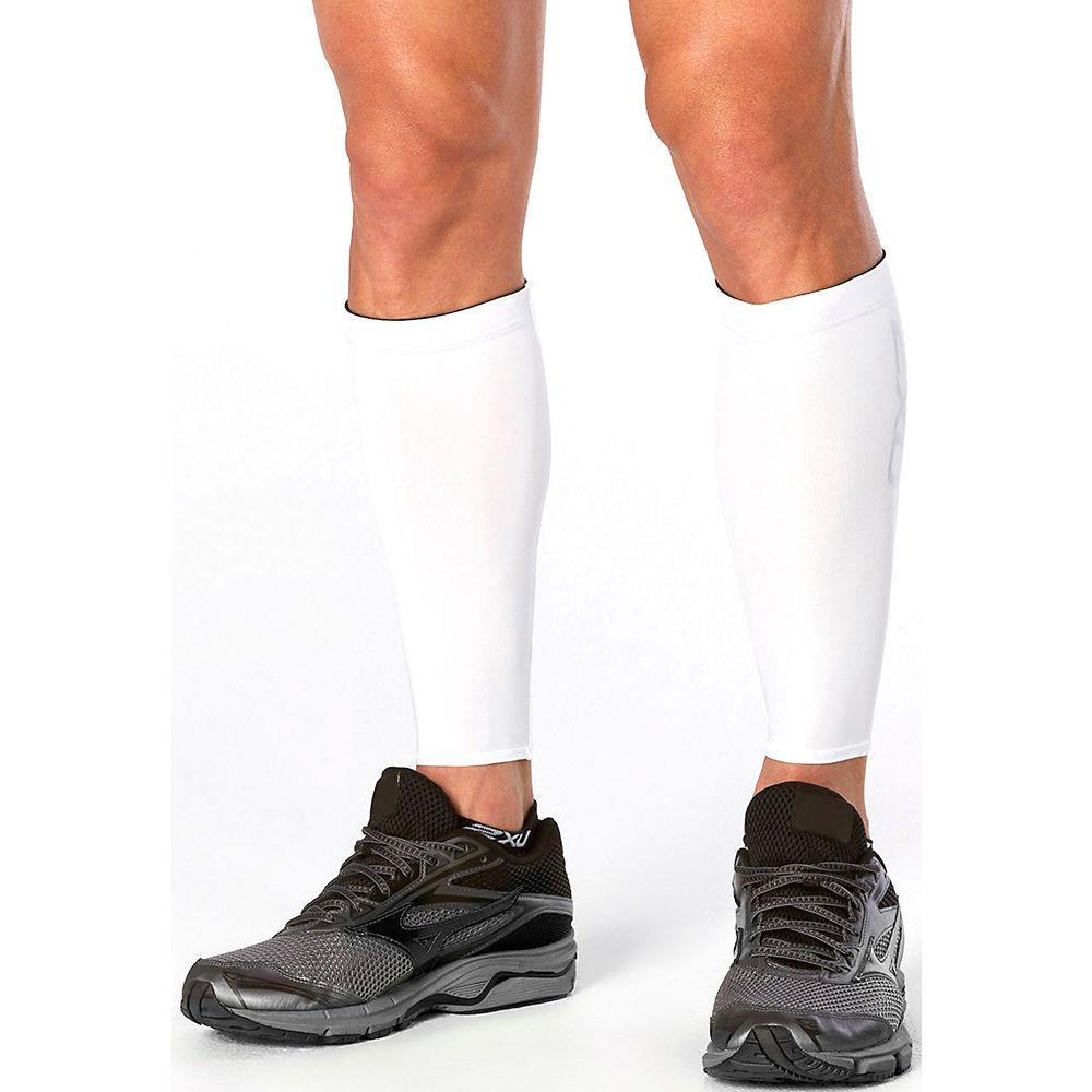 2XU Compression Calf Guards - White - XL, White