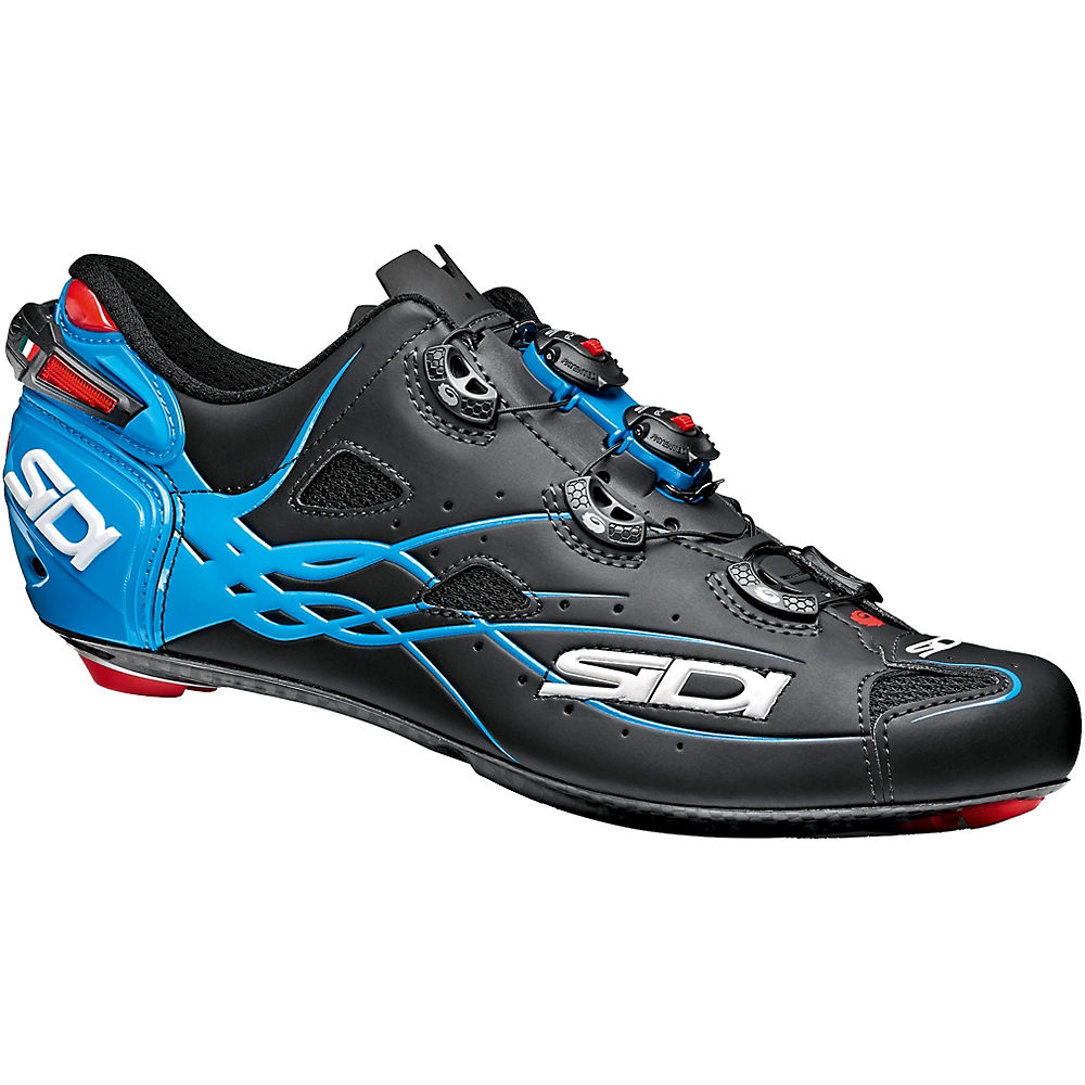 Image of Chaussures de route Sidi Shot Matt 2018 - Matt Black/Light Blue - EU 40, Matt Black/Light Blue