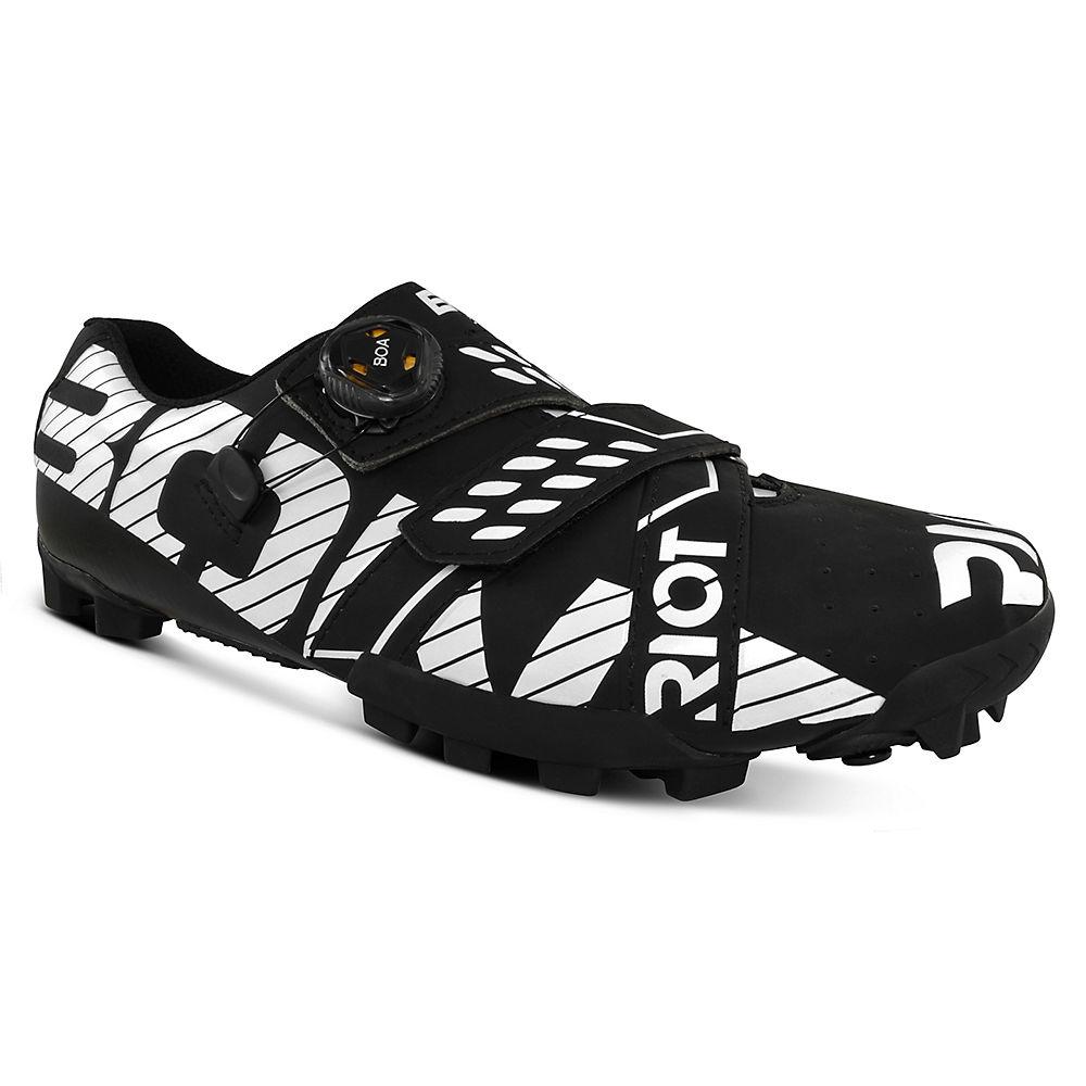 Bont Riot MTB+ (BOA) Cycling Shoe - Matte Black-White - EU 42, Matte Black-White