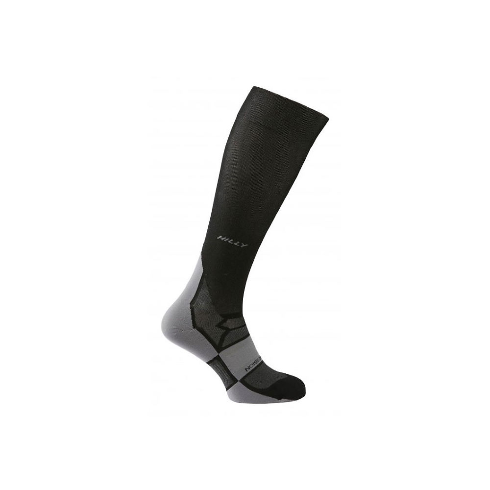 Image of Chaussettes de compression Hilly Pulse - Noir-Gris - XL, Noir-Gris