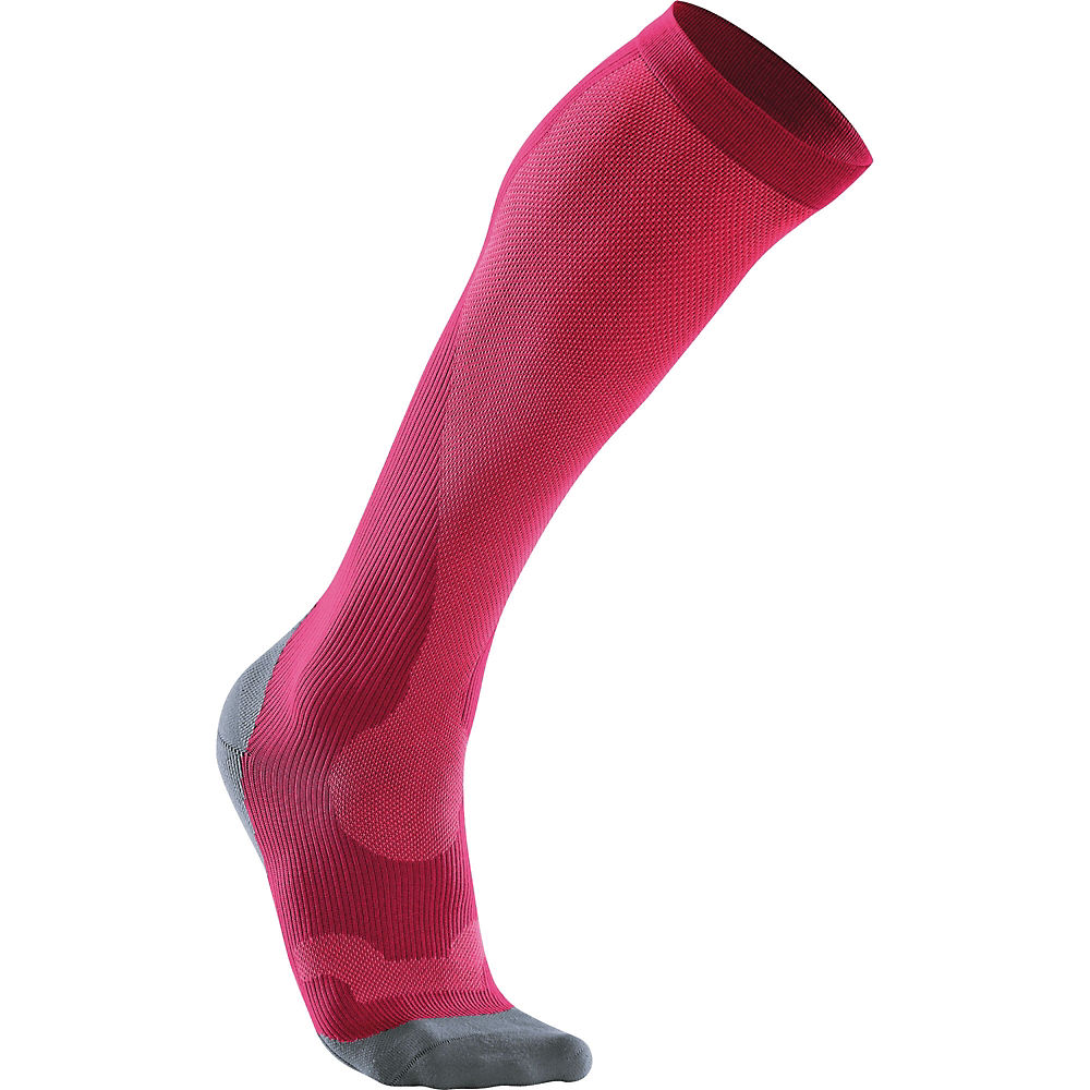 Image of Chaussettes 2XU Performance Femme - Hot Pink-Grey - L, Hot Pink-Grey