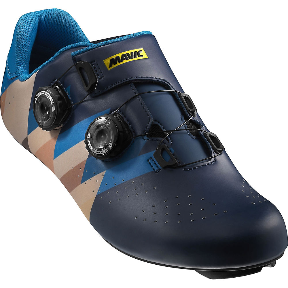Mavic Cosmic Pro Izoard Limited Edition Shoes - Poseidon-brilliant Blue-slate Black - Uk 6  Poseidon-brilliant Blue-slate Black
