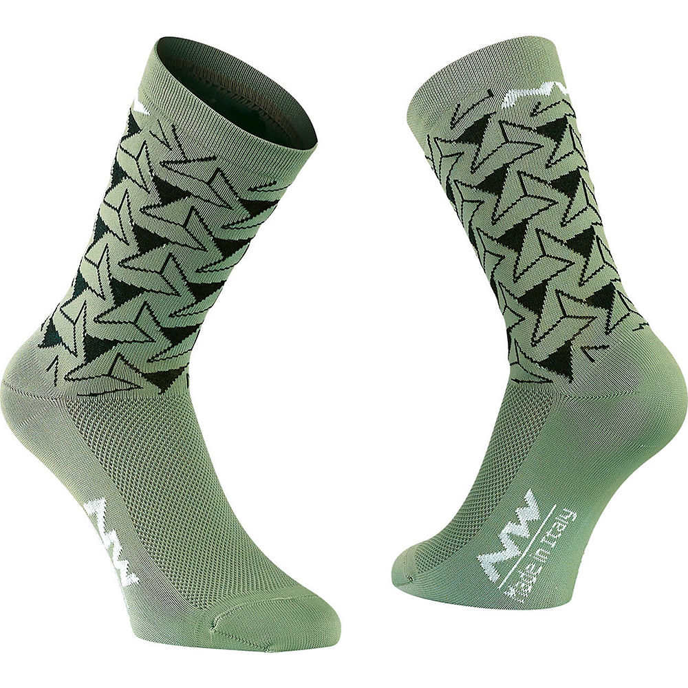 Image of Chaussettes Northwave Access Dedalo - Green Forest
