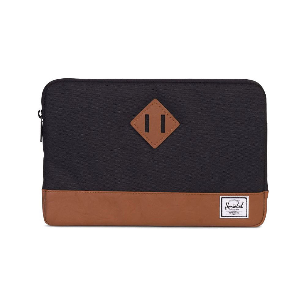 Image of Protection Herschel Heritage pour Macbook 12 inch - Black-Tan Synthetic Leather - OS