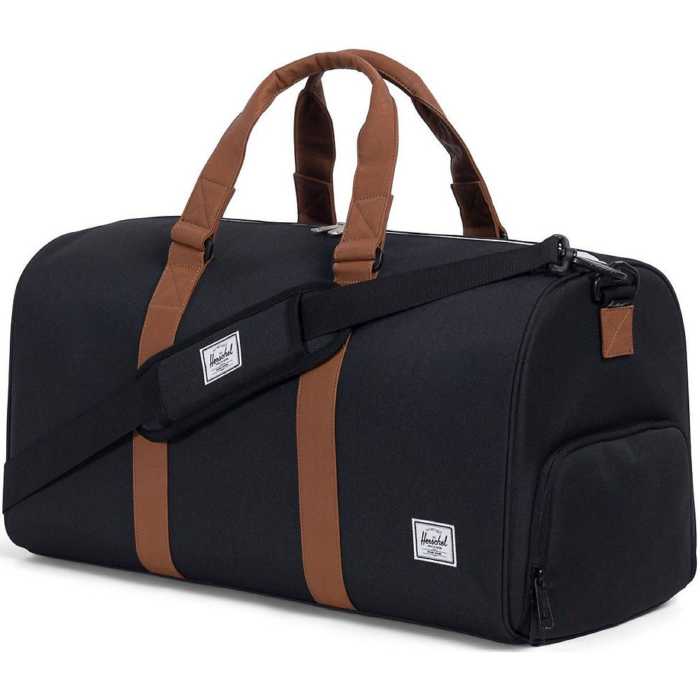 Image of Sac à dos Herschel Novel Mid-Volume - Black-Tan Synthetic Leather, Black-Tan Synthetic Leather