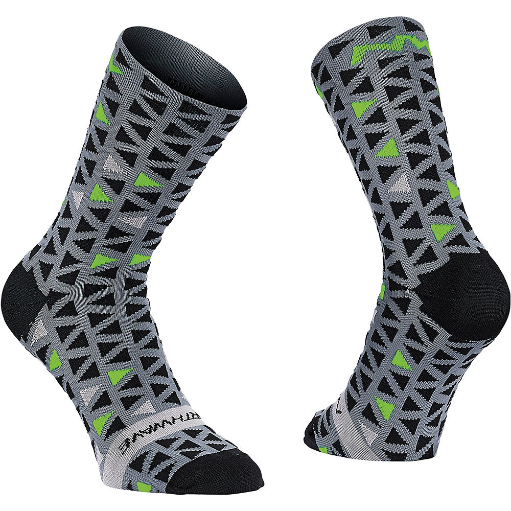 Image of Chaussettes Northwave Access Triangle - Black-Green Fluo