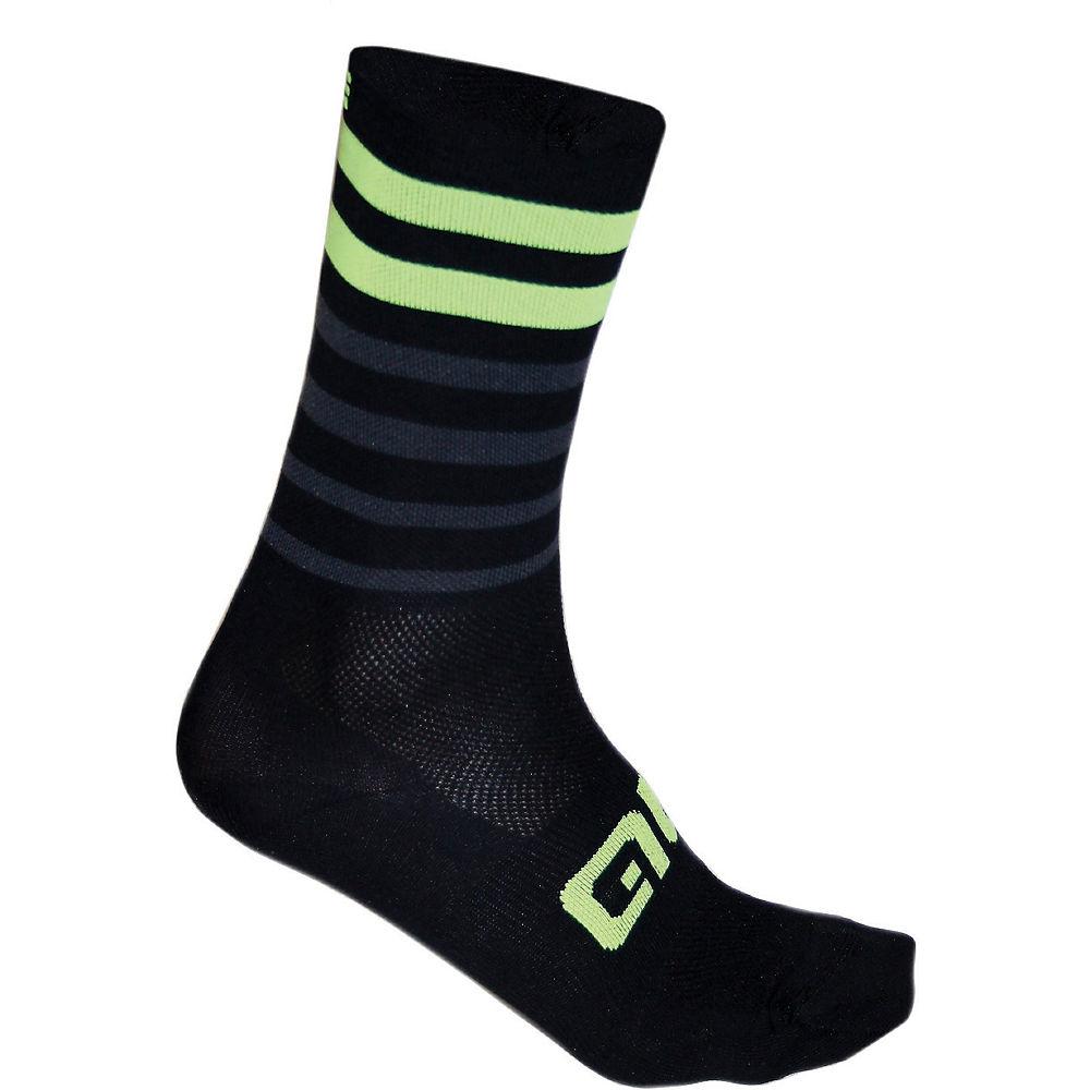 Ale Speed Fondo Socks - Black-yellow  Black-yellow