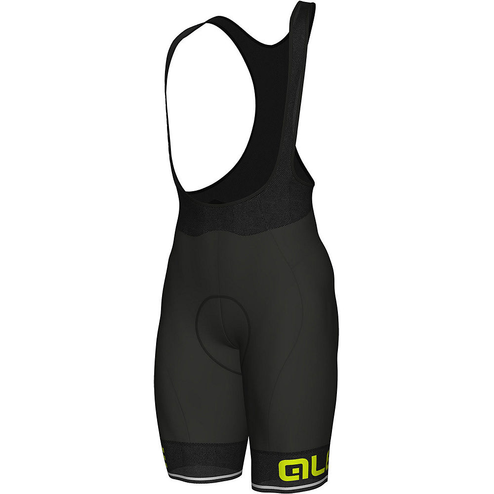 Alé Corsa Bib Shorts - Black-Yellow - XXL, Black-Yellow
