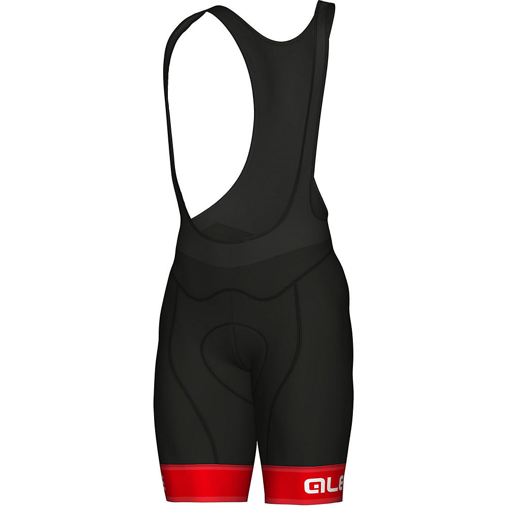 Alé Graphics PRR Sella Bib Shorts - BLACK-RED - XXL, BLACK-RED