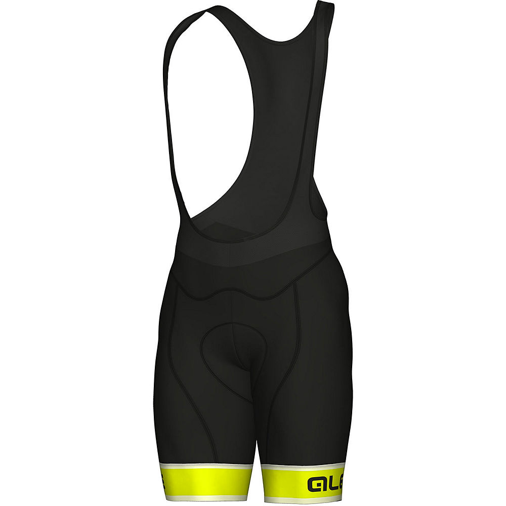 Alé Graphics PRR Sella Bib Shorts - Black-Yellow - M, Black-Yellow