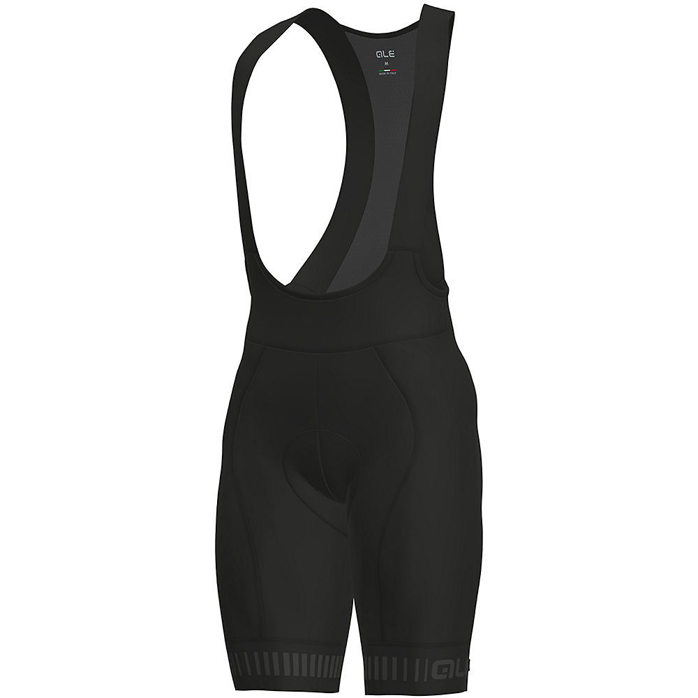 Alé Graphics PRR Strada Bib Shorts - Black-Grey, Black-Grey