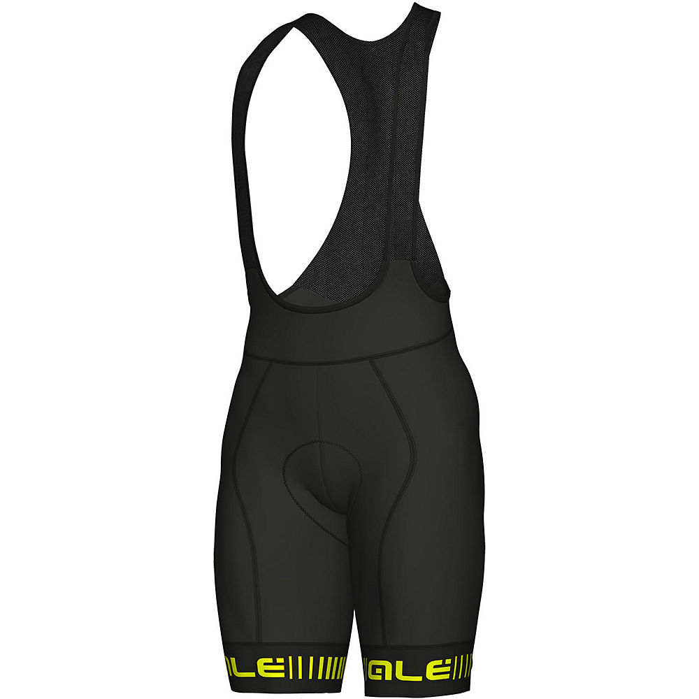 Ale Graphics Prr Strada Bib Shorts - Black-yellow - Xl  Black-yellow