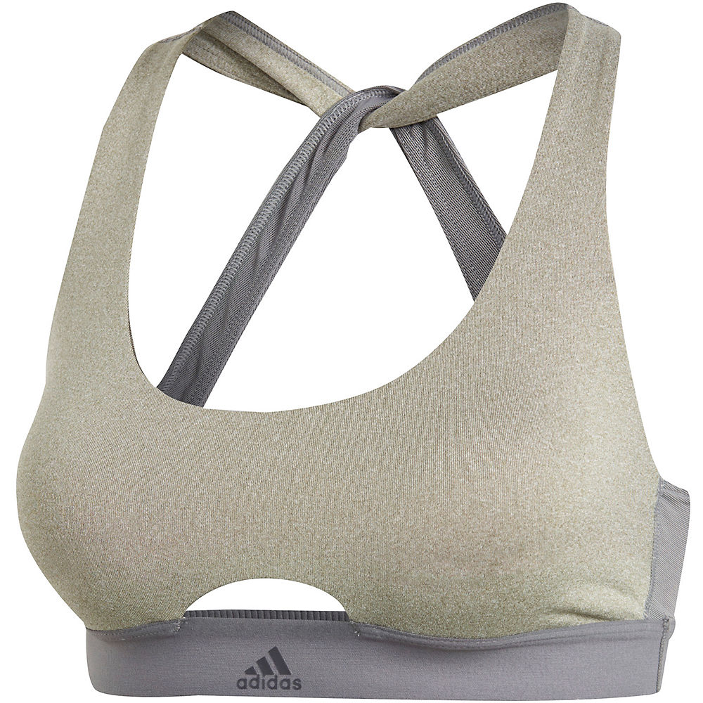 Adidas Womens All Me Vfa Bra  - Medium Grey Heather-medium Grey Heather - Small  Medium Grey Heather-medium Grey Heather