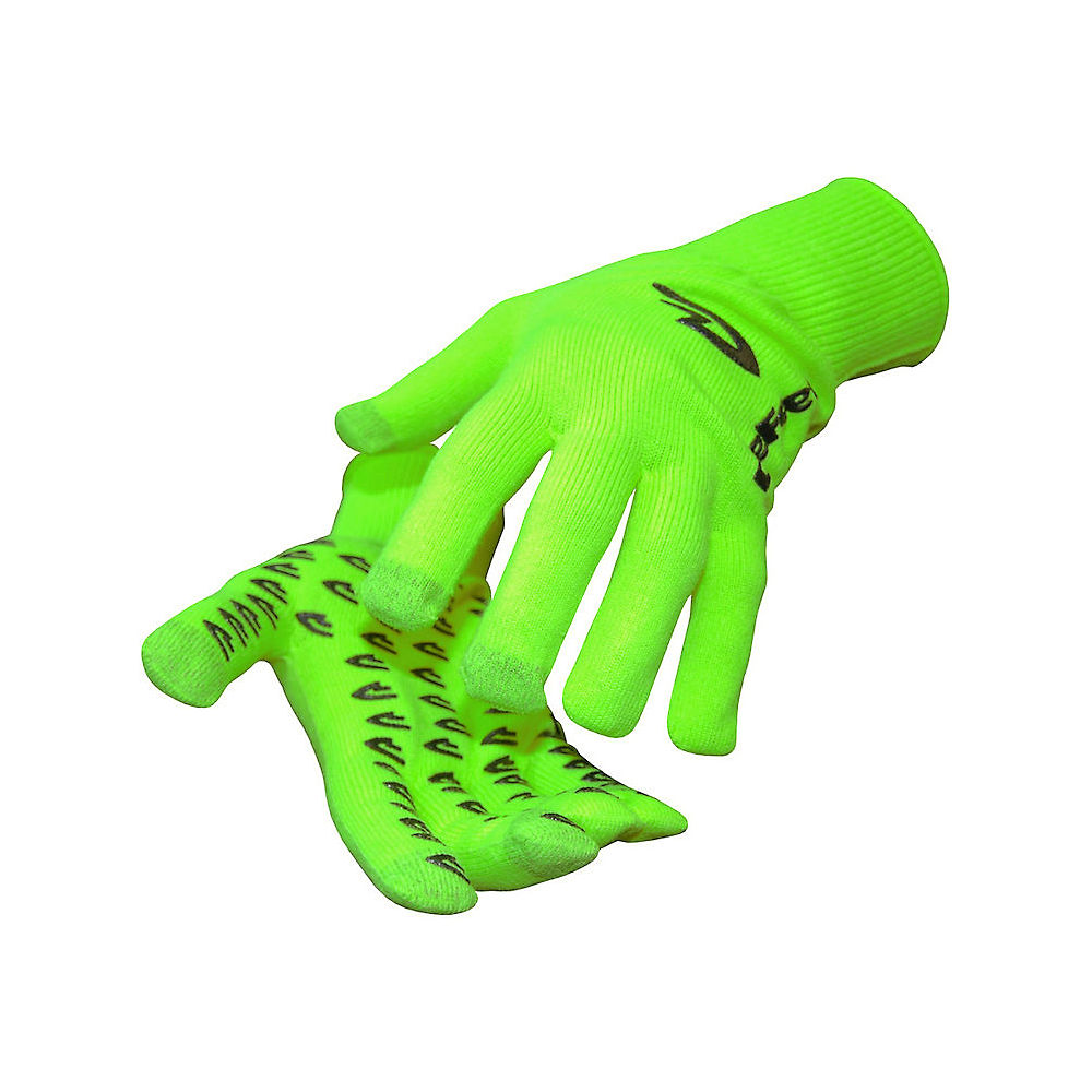 Defeet E-touch Dura Neon Gloves - Hi-vis Green-black - Xl  Hi-vis Green-black