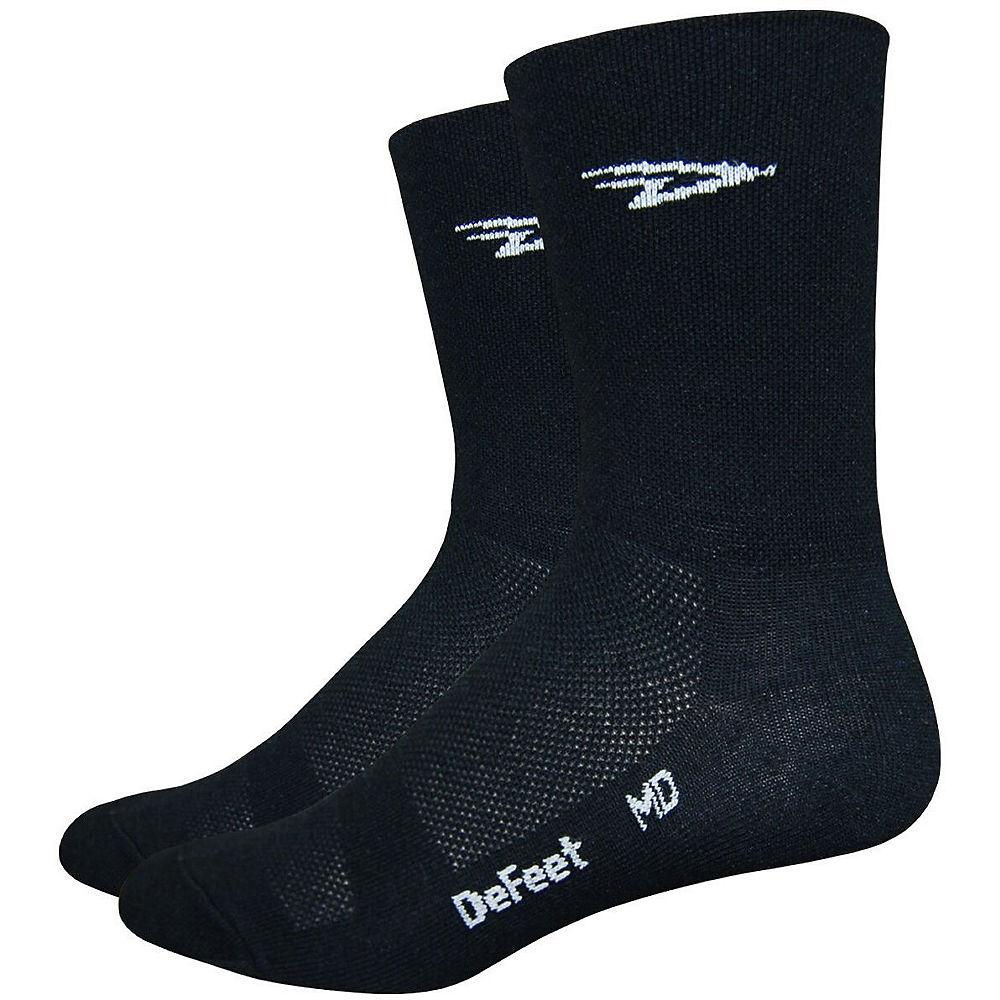 Image of Chaussettes Defeet Aireator D-Logo Double Cuff - Noir - M, Noir