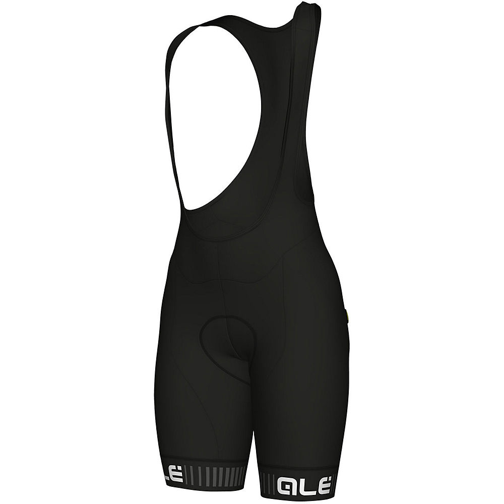 Alé Women's Traguardo Bib Shorts - Black-White - XXXL, Black-White