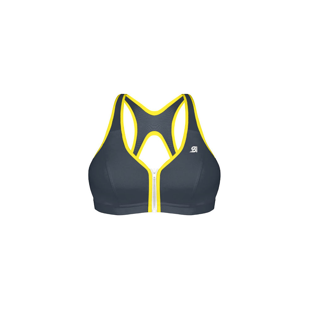 Shock Absorber Active Zipped Plunge Bra - Grey Yellow - 34B, Grey Yellow