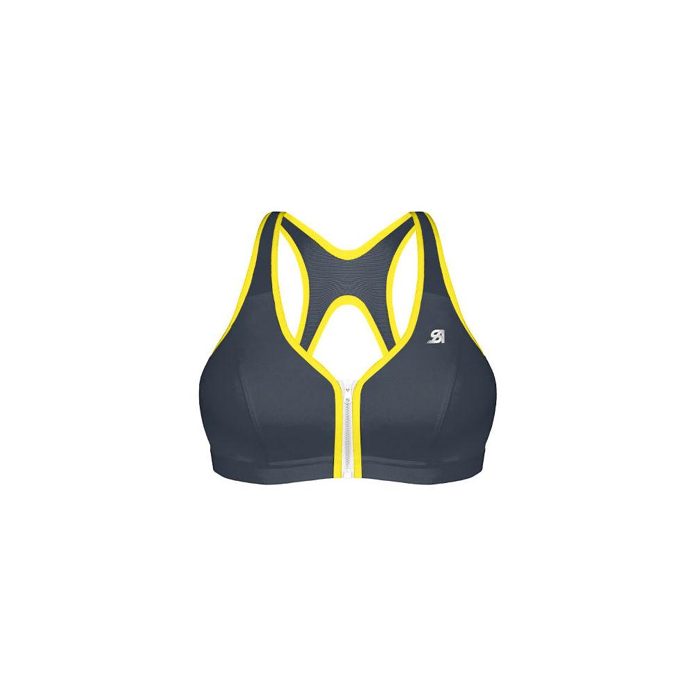 Shock Absorber Active Zipped Plunge Bra - Grey Yellow - 34c  Grey Yellow