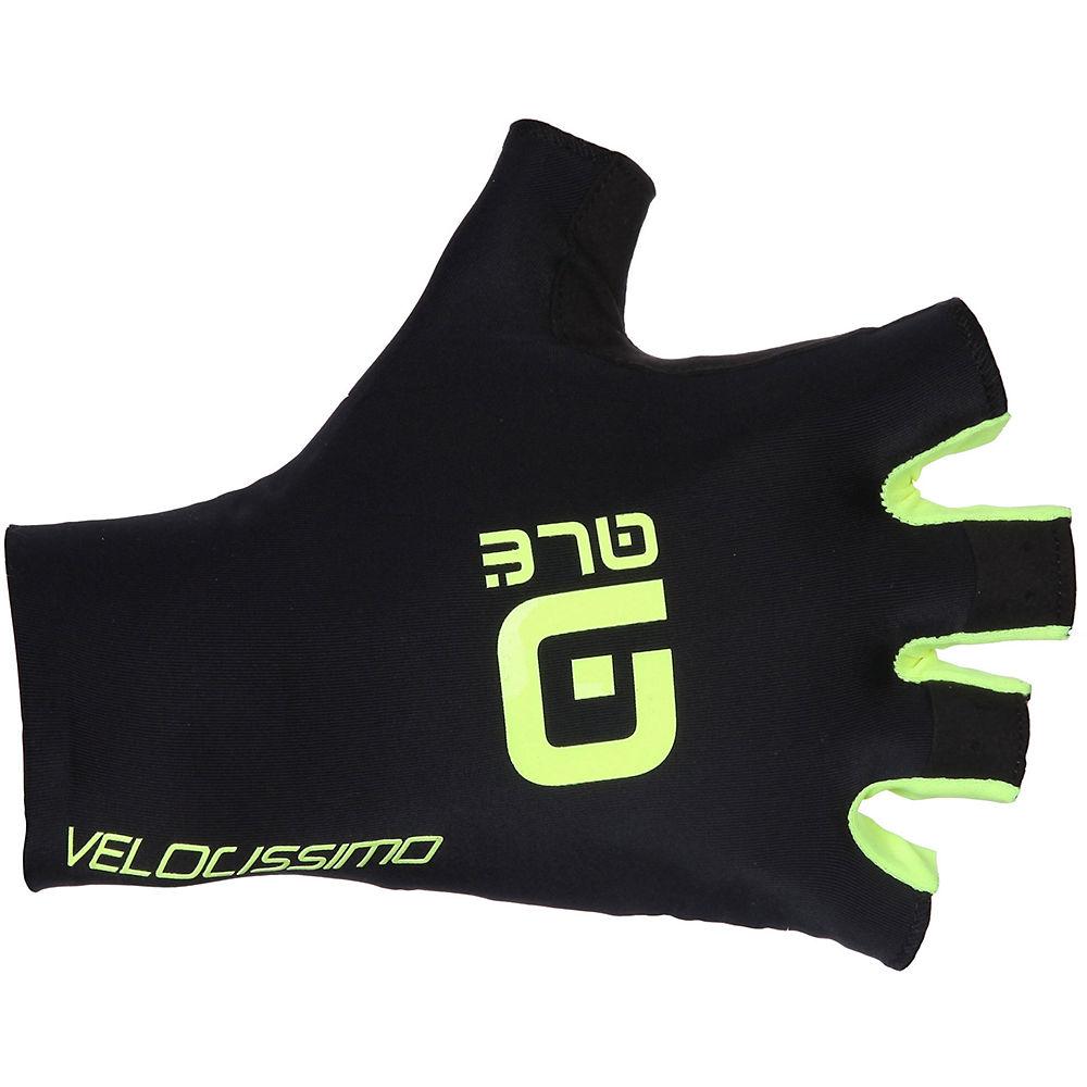 Ale Crono Velocissimo Gloves - Black-fluro Yellow - Xs  Black-fluro Yellow