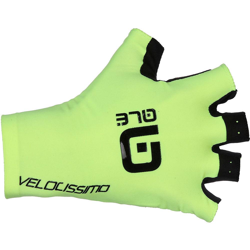 Ale Crono Velocissimo Gloves - Fluro Yellow-black - Xs  Fluro Yellow-black