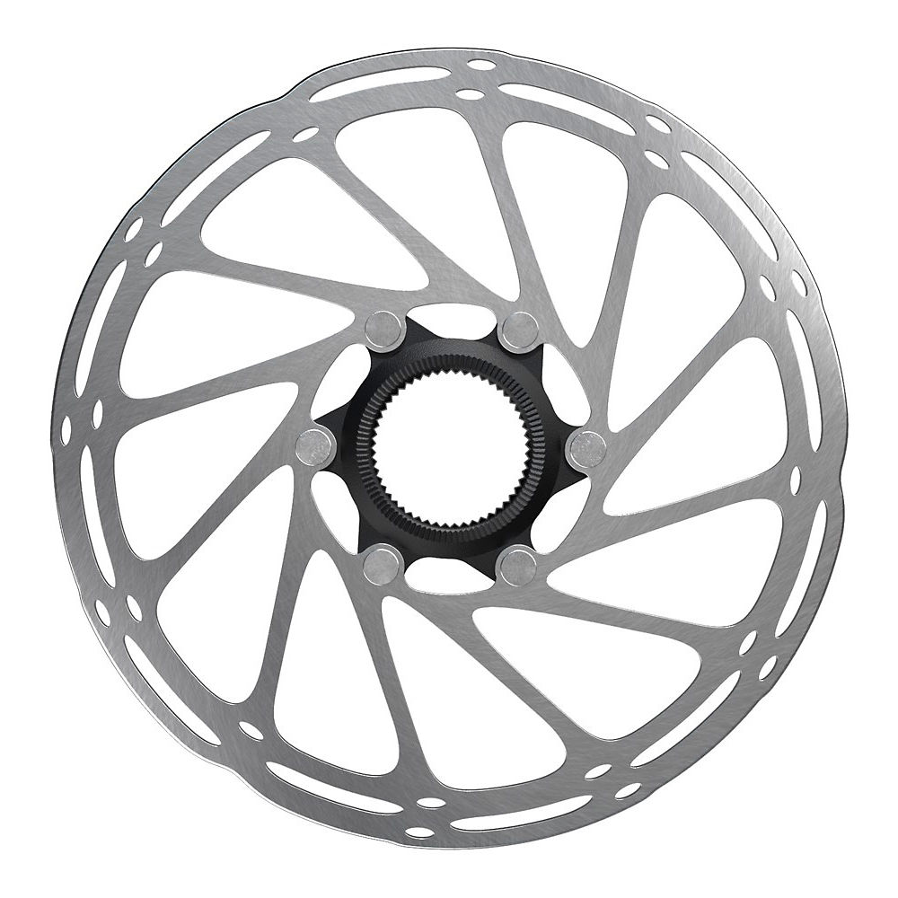 Sram Centerline Rounded Center Lock Rotor - Silver - Black - 160mm  Silver - Black