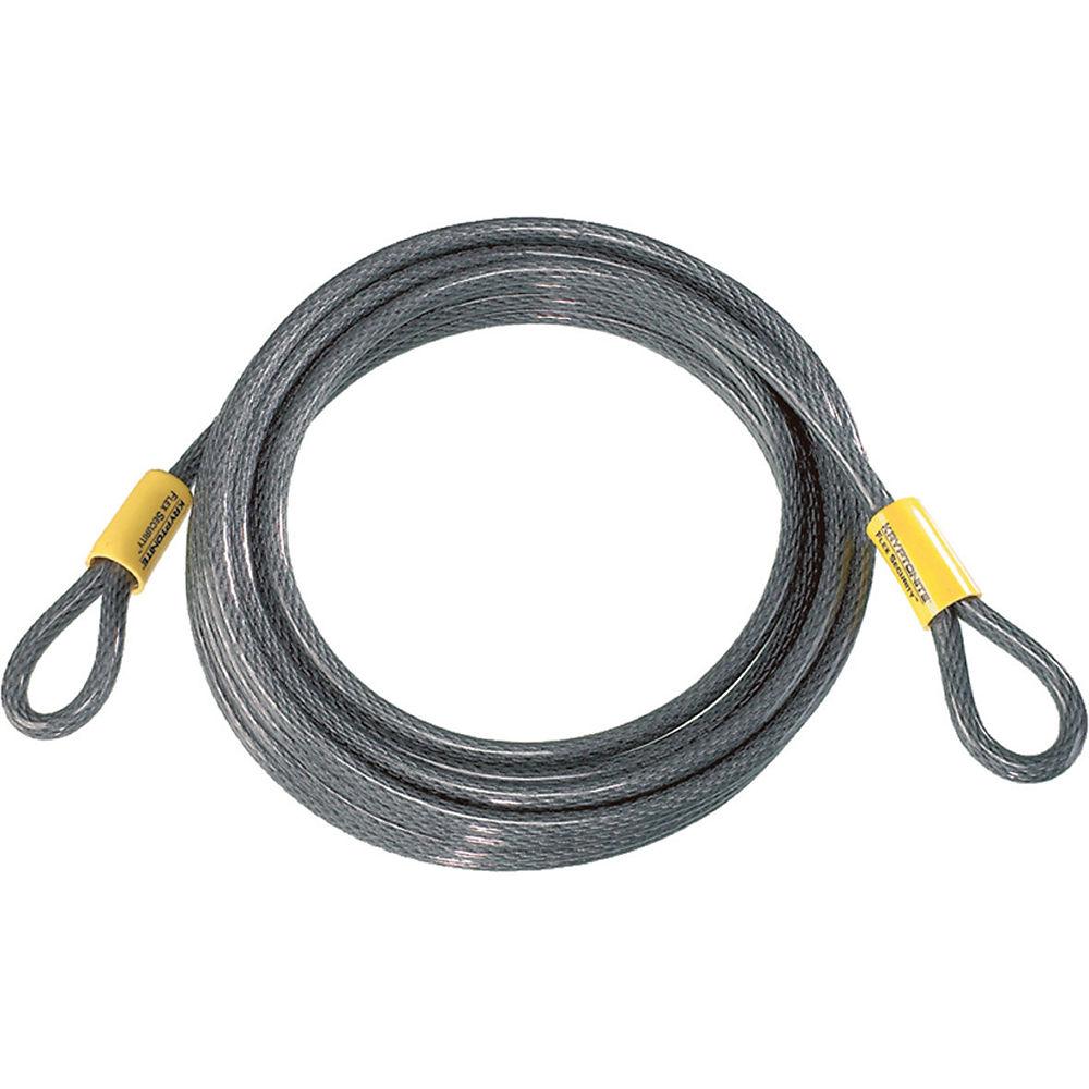 Kryptonite KryptoFlex 30 Foot Cable Bike Lock - Grey, Grey