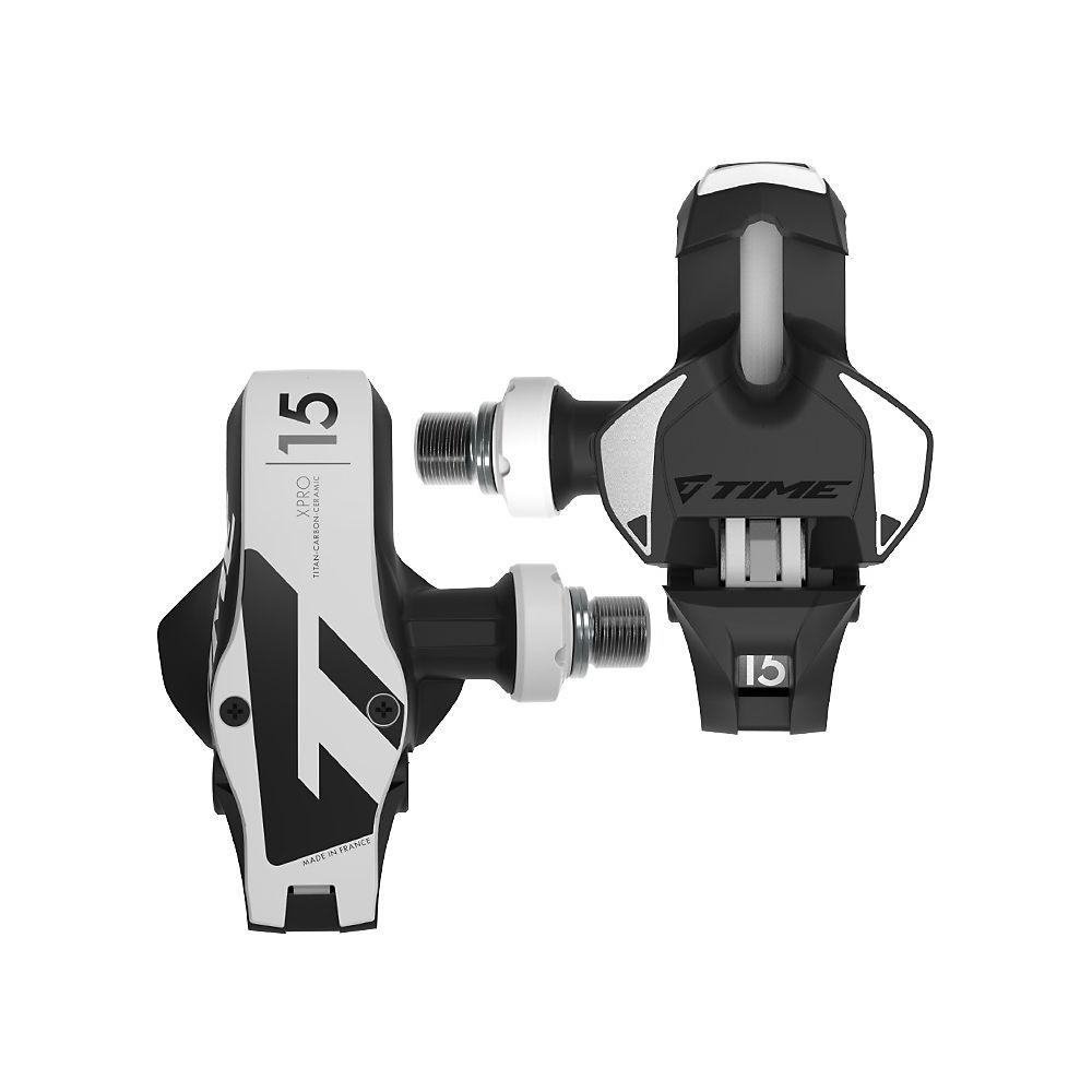 Time Xpro 15 Pedals - Black - White  Black - White