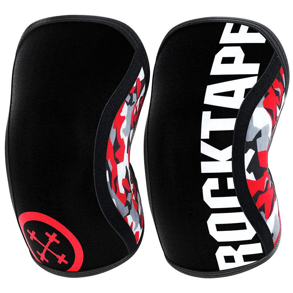 RockTape Assassin Knee Sleeves 5mm - Camuflaje rojo - Red Camo Extra Small, Camuflaje rojo