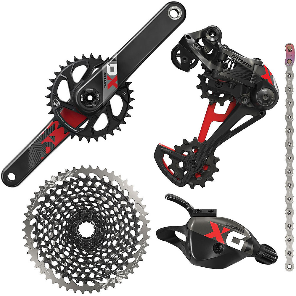 Sram X01 Eagle 12 Speed Mtb Groupset - Red - 10-50t  Red