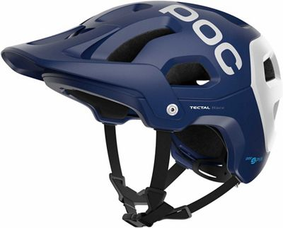POC Tectal Race SPIN Helmet 2018 - Lead Blue-Hydrogen White Matt - M/L, Lead Blue-Hydrogen White Matt