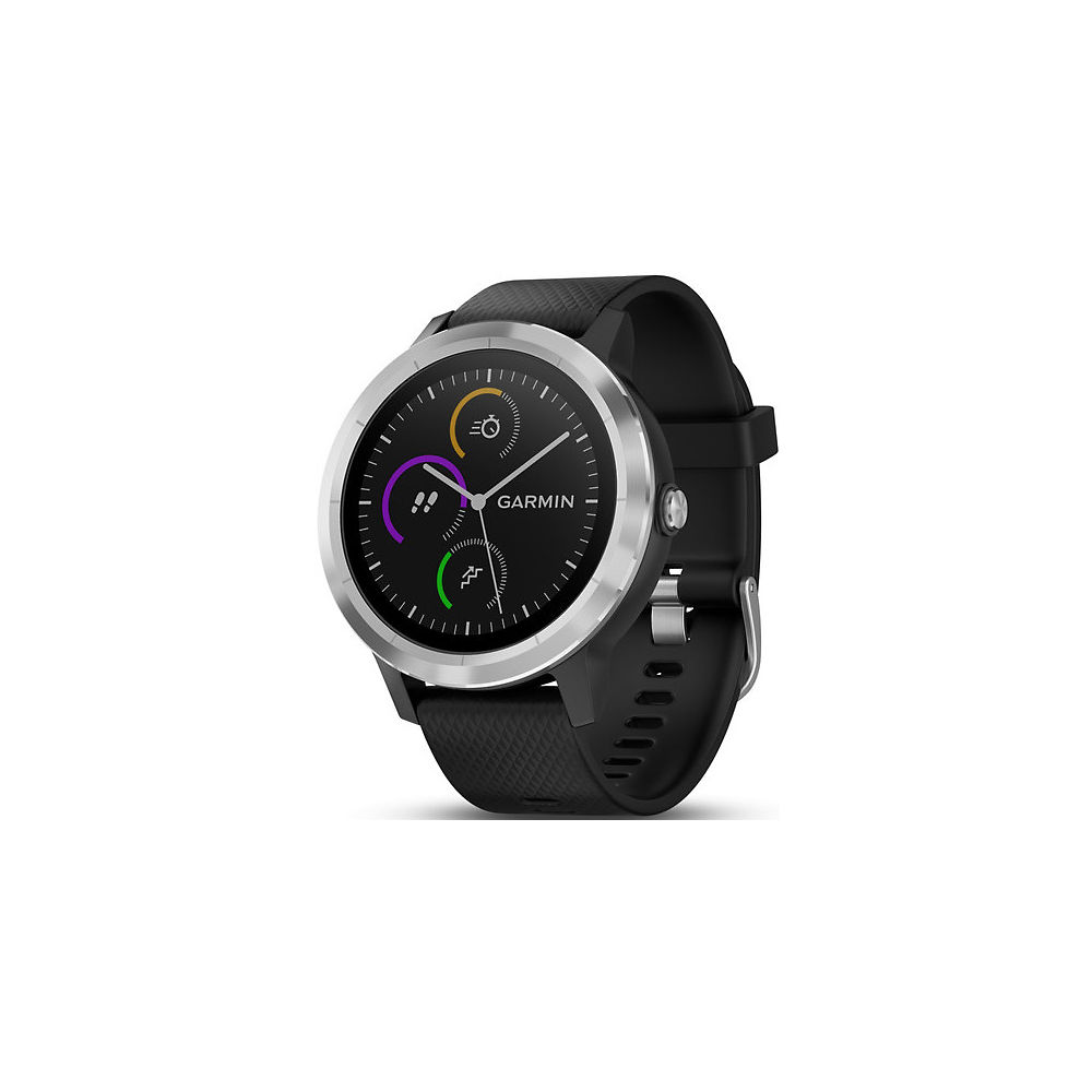 Garmin Vivoactive 3 GPS Smartwatch - Black - Stainless Steel, Black - Stainless Steel