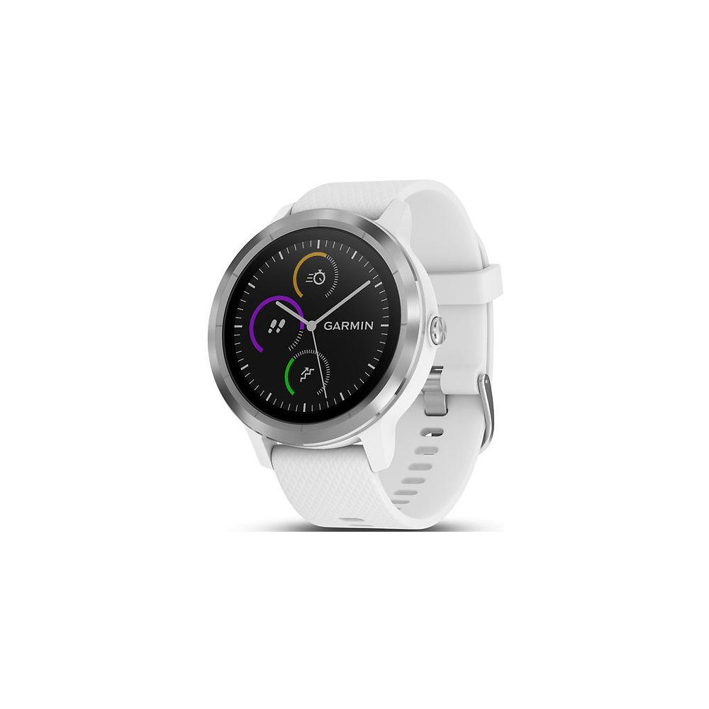 Garmin Vivoactive 3 GPS Smartwatch - White - Stainless Steel, White - Stainless Steel