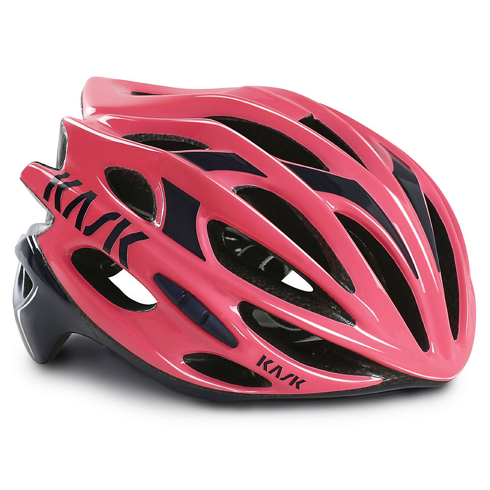 Image of Casque de route Kask Mojito - Rose/Navy Blue - 63-64cm, Rose/Navy Blue