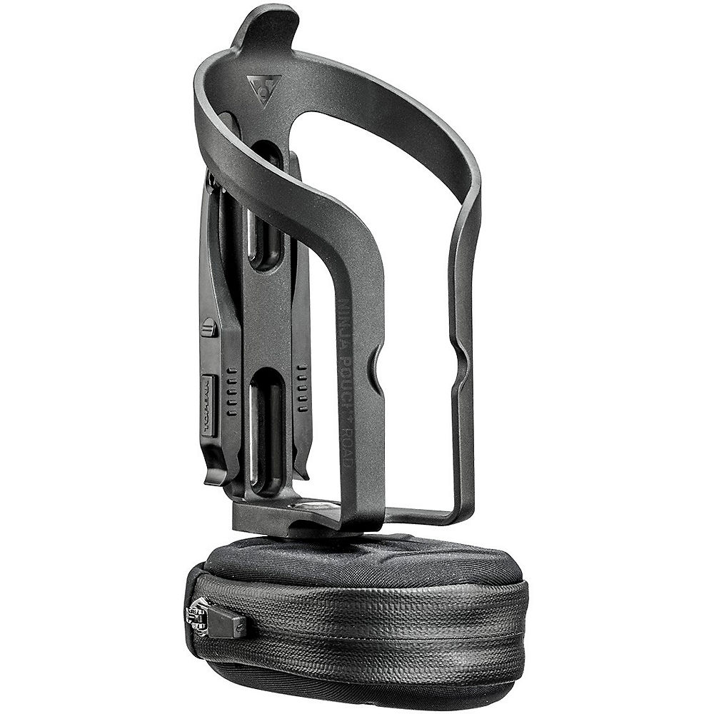 Topeak Ninja Pouch Plus Bottle Cage (Road) - Negro, Negro