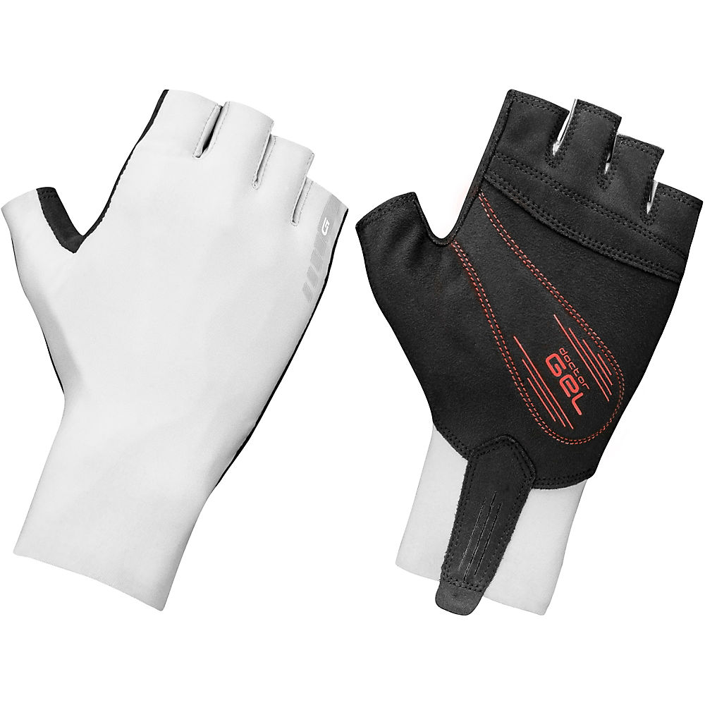 Gripgrab Aero Tt Short Finger Gloves - White-white - M  White-white