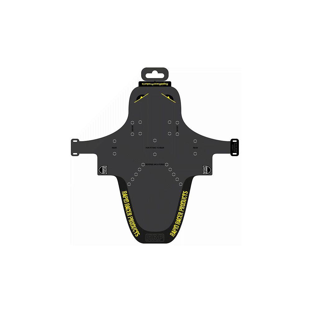 RapidRacerProducts Enduroguard Standard Front Mudguard - Negro - Amarillo, Negro - Amarillo