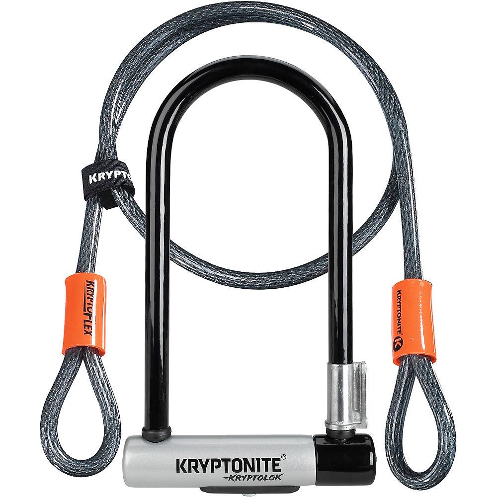 ComprarKryptonite Standard U-Lock & Kryptoflex Cable - Negro-Plata - Sold Secure Gold Rated, Negro-Plata