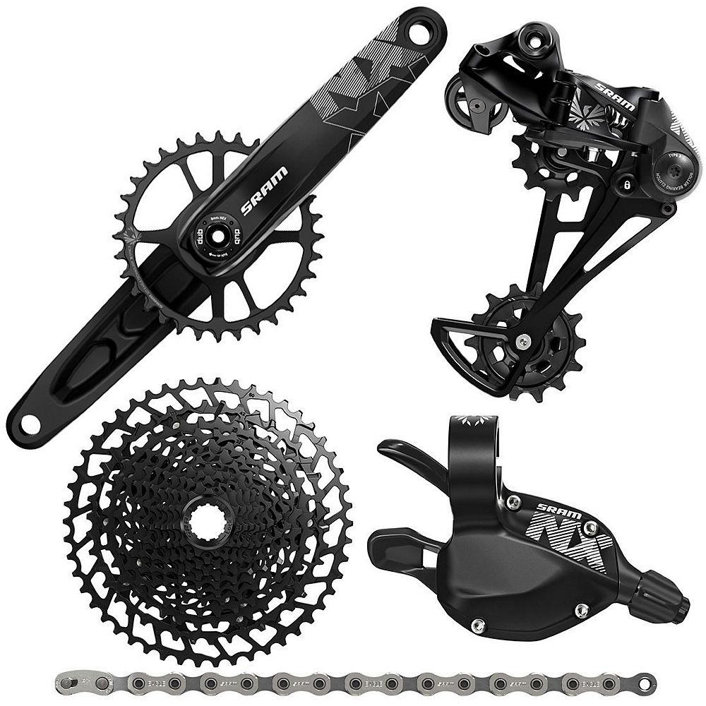 Sram Nx Eagle 12 Speed Mountain Bike Groupset - Black - 11-50t  Black