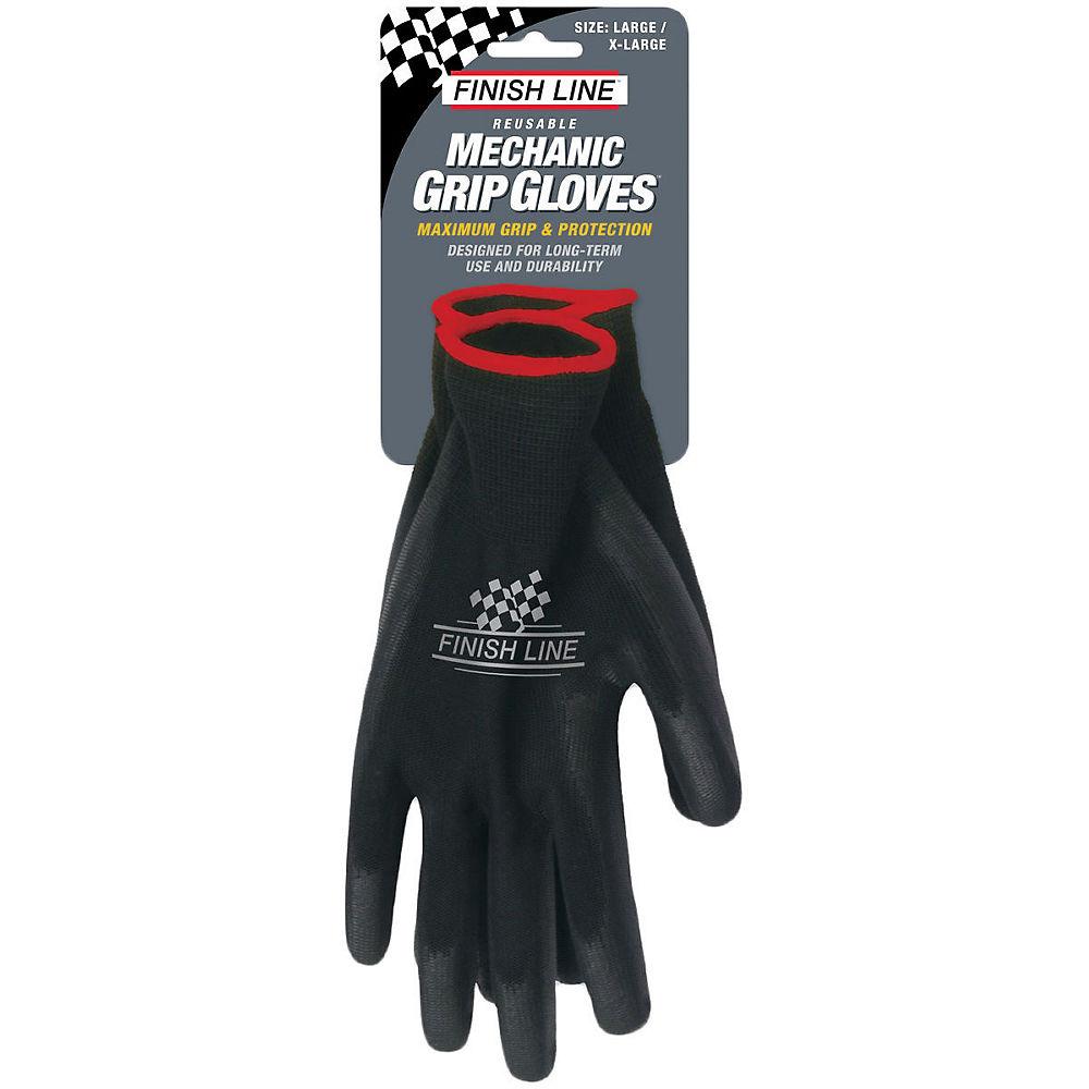 Finish Line Mechanic Grip Gloves - Black - Small - Medium  Black