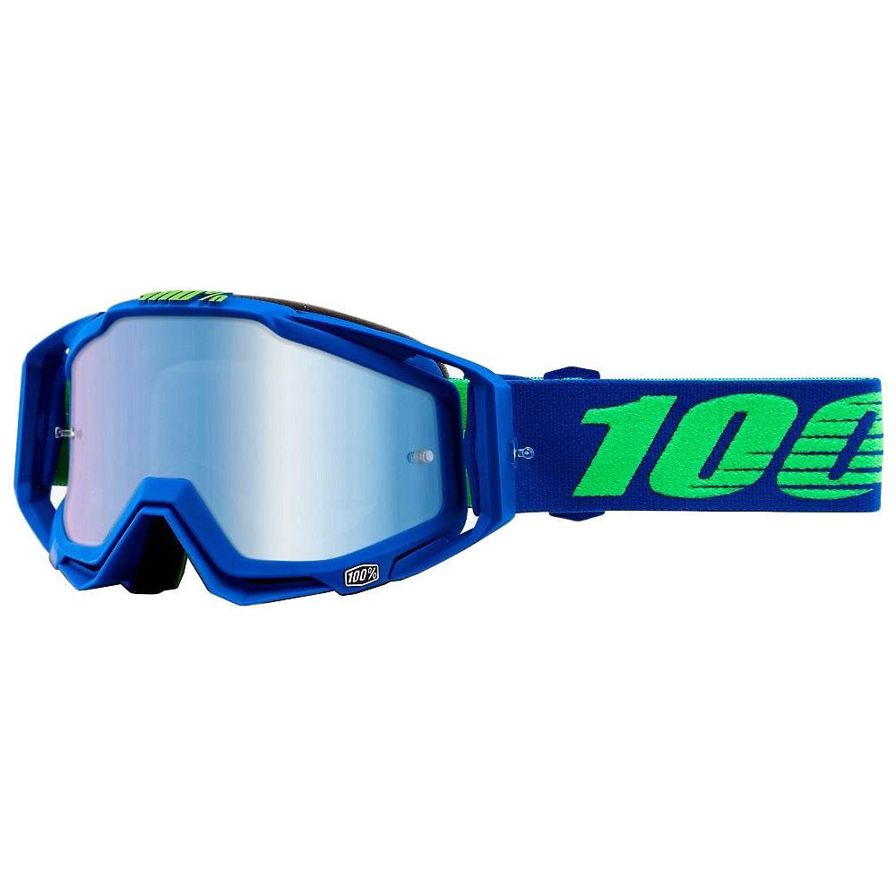 100% Racecraft Goggles - Mirror Lens - Dreamflow  - Mirror Blue Lens, Dreamflow  - Mirror Blue Lens