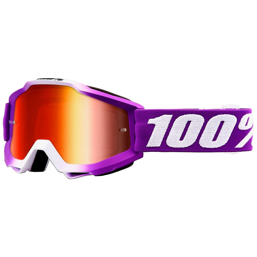 100% Accuri Youth Goggles Mirror Lens  - Framboise  - Mirror Red Lens, Framboise  - Mirror Red Lens