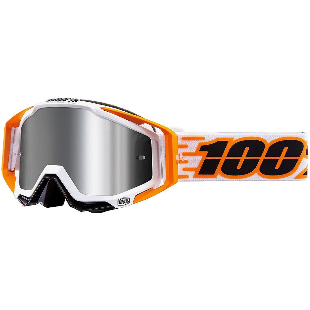 100% Racecraft Plus Goggles Mirror Lens  - Illumina  - Injected Silver Flash Mirror Lens, Illumina  - Injected Silver Flash Mirror Lens