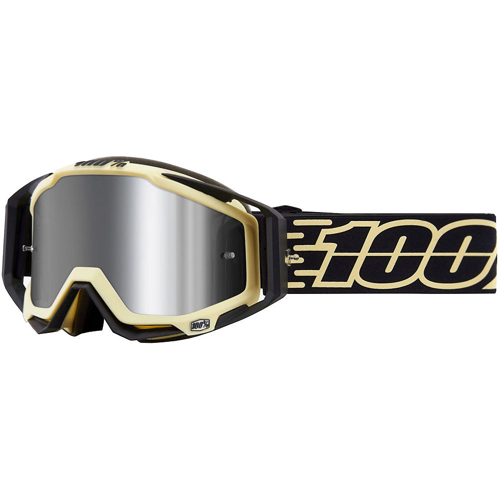 100% Racecraft Plus Goggles Mirror Lens  - Jiva  - Injected Silver Flash Mirror Lens, Jiva  - Injected Silver Flash Mirror Lens