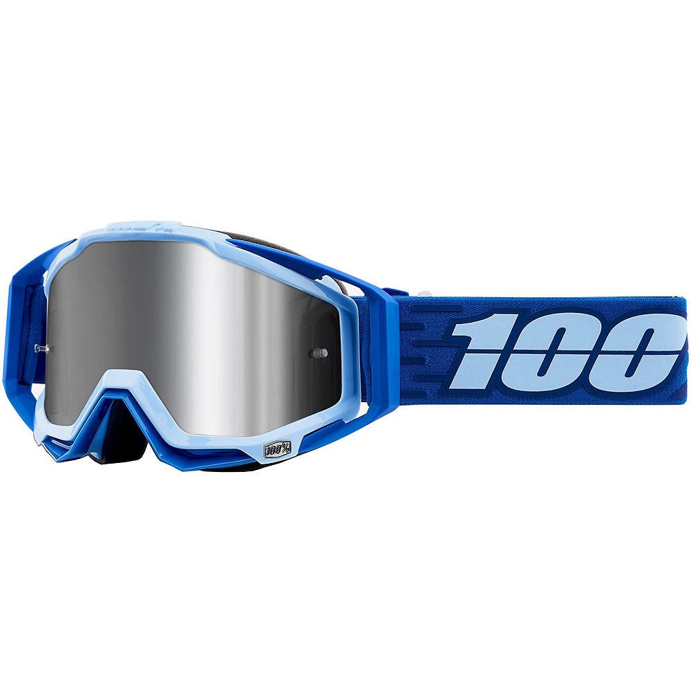 100% Racecraft Plus Goggles Mirror Lens  - Rodion  - Injected Silver Flash Mirror Lens, Rodion  - Injected Silver Flash Mirror Lens