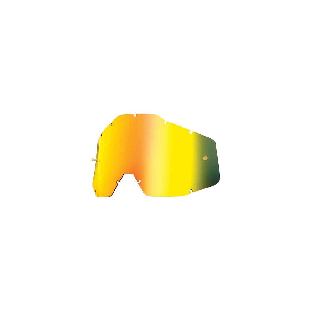 100% Racecraft-Accuri-Strata Replacement Lens  - Gold Mirror-Smoke, Gold Mirror-Smoke